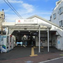 矢口渡駅には昔ながらの駅舎が残っています(外観)