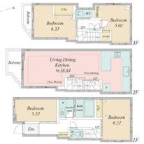4LDK・ホームシアターと防音設備を備えた築浅戸建て